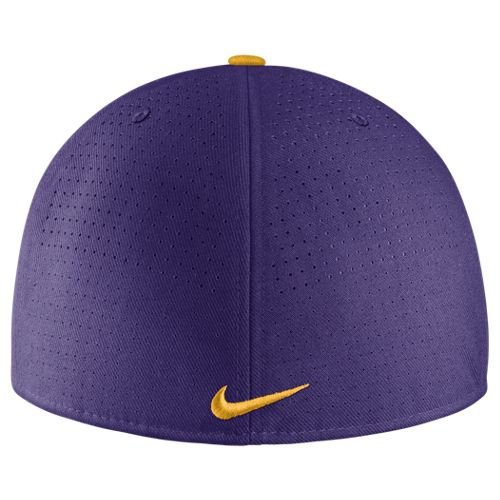 70d1b1338c9 Nike LSU Tigers True Vapor Dri-FIT Fitted Flat Bill Hat - Purple. View  detailed images (1)