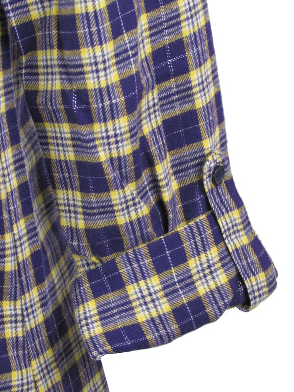 Lsu Tigers Women S Flannel Plaid Night Shirt Purple