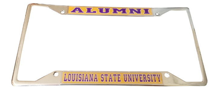 LSU Tigers Metal and Acrylic Alumni License Plate Frame - Chrome
