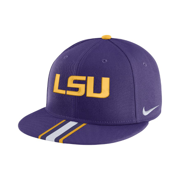 Nike LSU True Flat Bill Snapback Silhouette Dri-FIT Hat - Purple - PURPLE  AND GOLD SPORTS aaa8a7aad4f