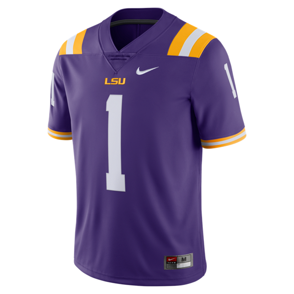 Nike LSU Men's #1 Limited Football Jersey - Purple