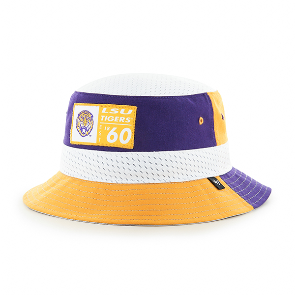 LSU Tigers 47 Brand Vintage Turnover Bucket Hat - Purple, Gold & White
