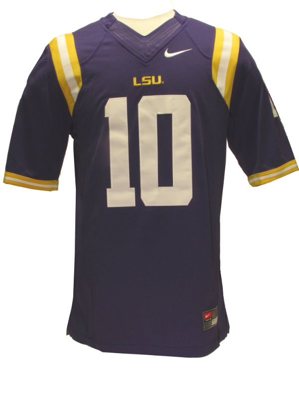 uk availability ad022 c4355 Nike LSU Tigers #10 Limited Football Jersey - Purple