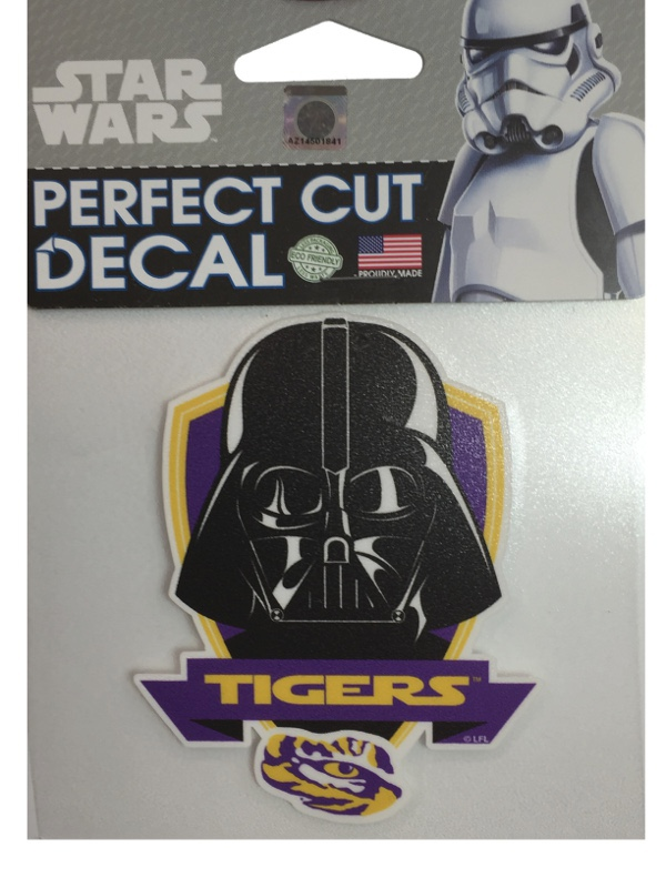 Lsu tigers star wars storm darth vadar perfect cut decal for How to cut a perfect star