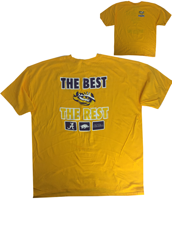 f8f99e979d7b LSU Tigers Men's The Best The Rest Cotton T-Shirt - Gold - PURPLE AND GOLD  SPORTS