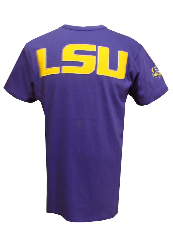 LSU Tigers Fieldhouse Vintage College Vault Tackle Twill Tee by '47 Brand - Purple