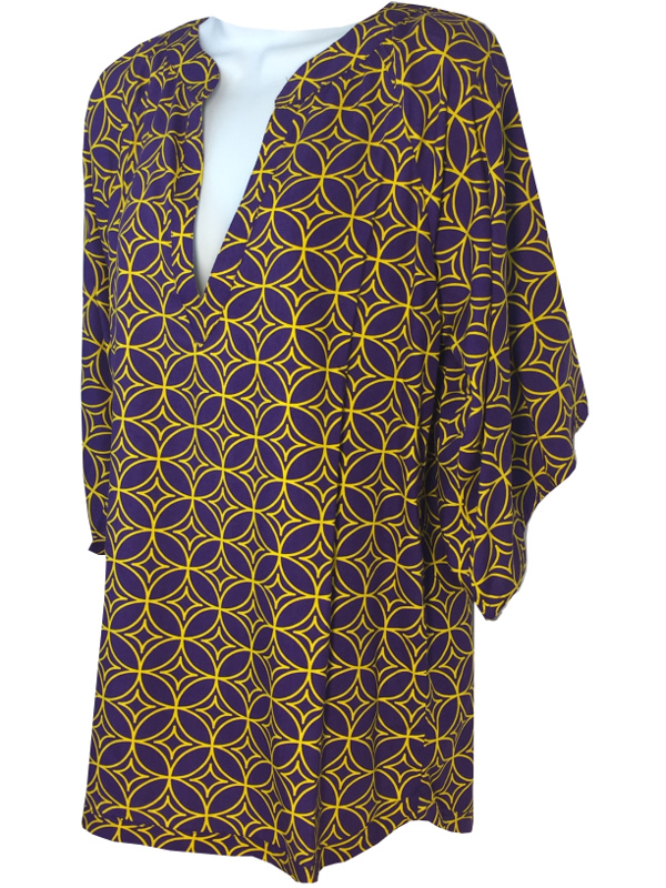 Purple and Gold Women's Game Day Catagena Boutique Top - Purple and Gold