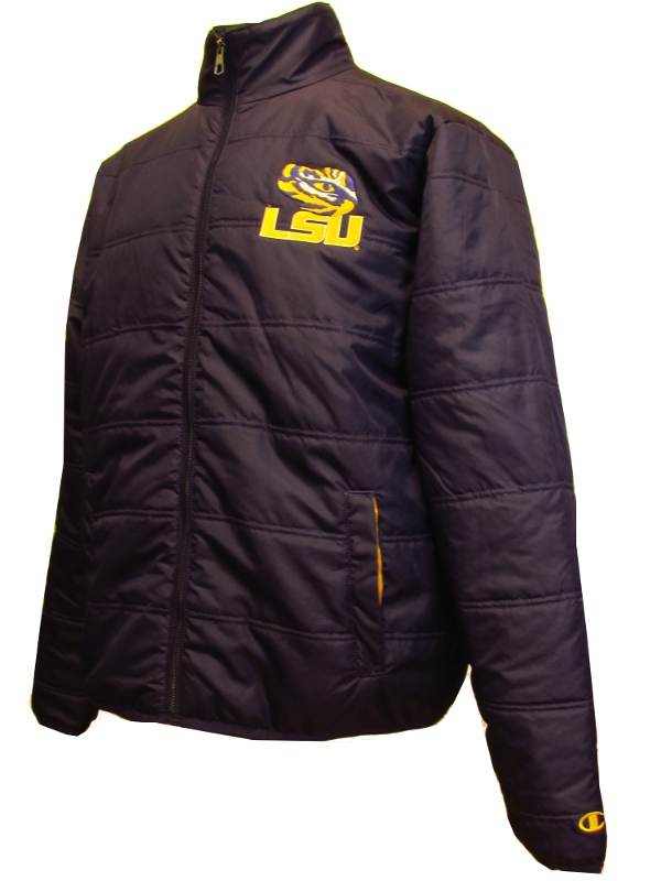 LSU Tigers Men's Insulated Full Zip Jacket - Purple