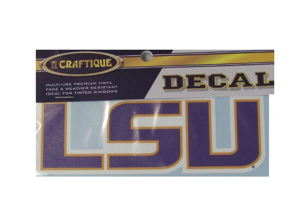 LSU Tigers LSU Decal - Purple and Gold