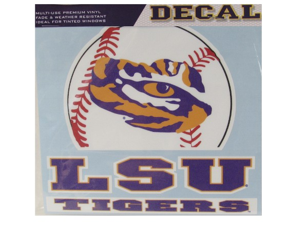 LSU Tigers Baseball Decal - 6""
