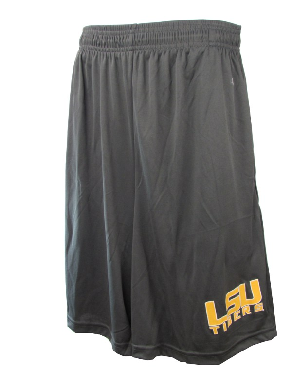 LSU Tigers Men's Core Performance Pocket Shorts - Charcoal