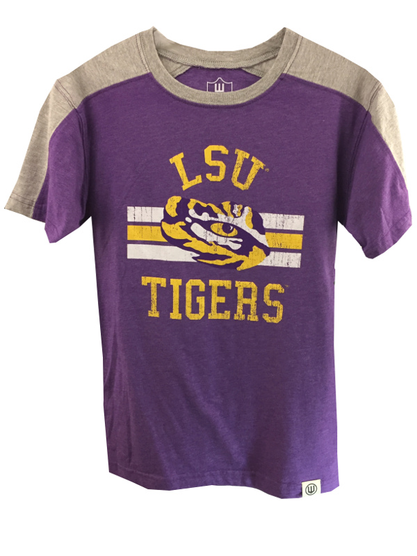 promo code 0666f 3576f LSU Tigers Child & Youth Color Blocked Blend T-Shirt - Purple and Grey