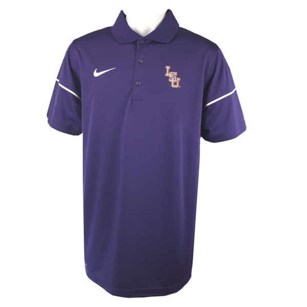 Nike Golf LSU Tigers Men's Dri-Fit Team Issue Baseball Polo - Purple