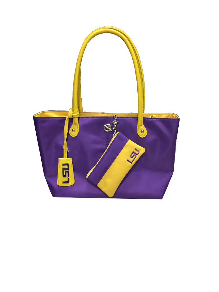 LSU Tigers Pamela Purse and Pouch - Purple and Gold