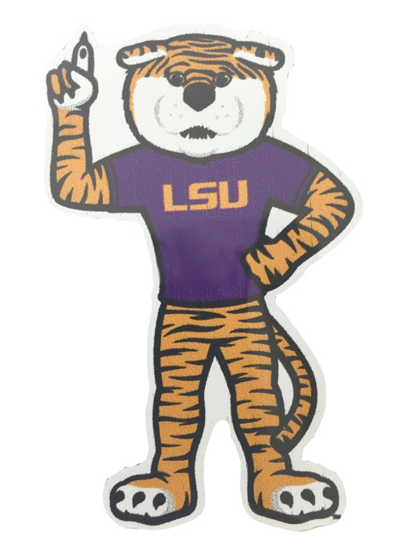 "LSU Tigers 3"" Mike the Tiger Auto Magnet"