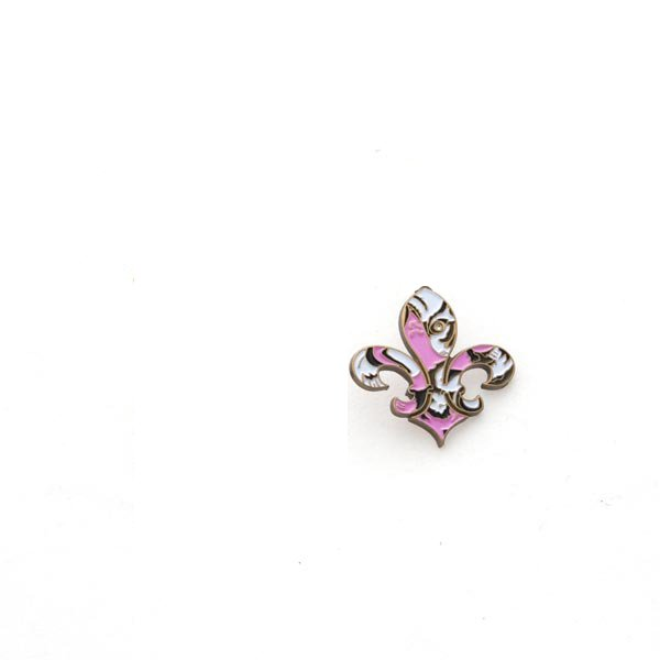 LSU Tigers Fleur de Tigre Pin - Pink and Brown