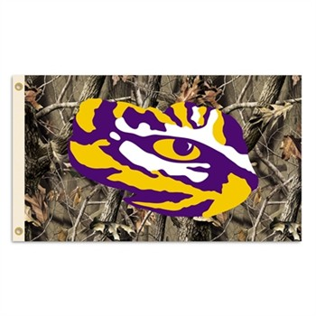 LSU Tigers Premium Tiger Eye Realtree Camo 3' x 5' Flag