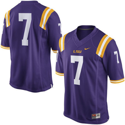 best service c16f9 c7628 Nike LSU Tigers Men's #7 Gameday Football Jersey - Purple