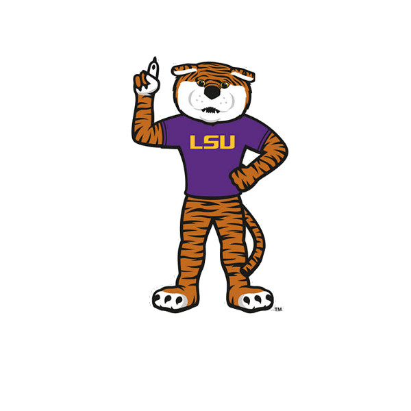 "LSU Tigers Standing Mike the Tiger 6"" Die Cut Decal"
