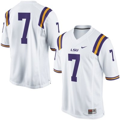 Nike LSU Tigers Men's #7 Gameday Football Jersey - White