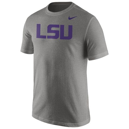 Nike LSU Tigers Men's Cotton Wordmark T-Shirt - Grey