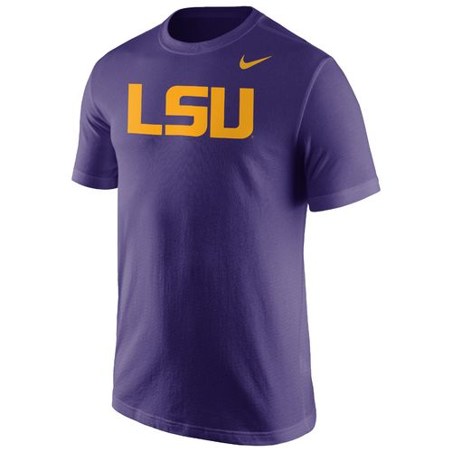 Nike LSU Tigers Men's Cotton Wordmark T-Shirt - Purple
