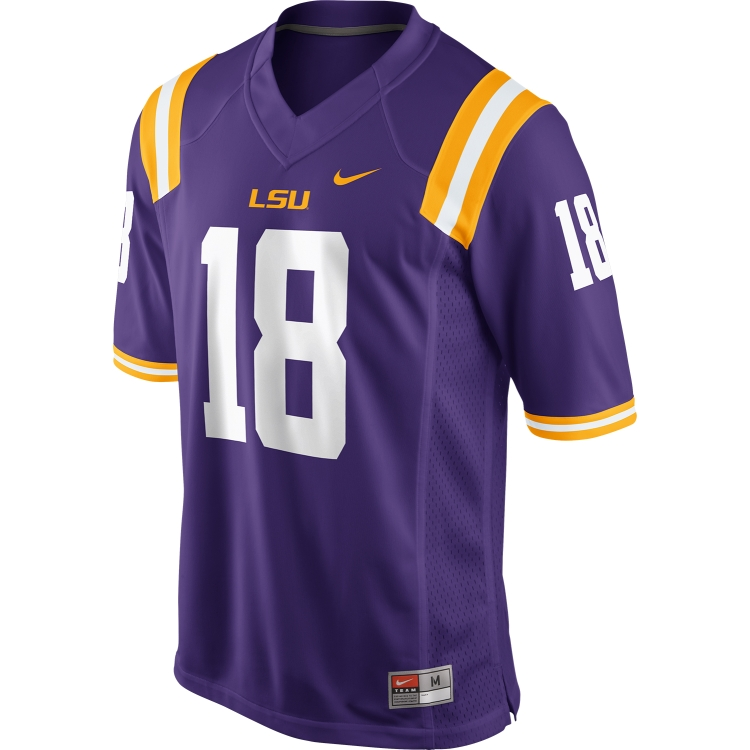 Nike LSU Tigers CHILD and YOUTH #18 Gameday Football Jersey - Purple