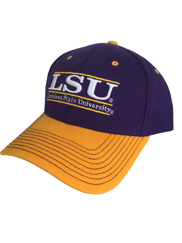 LSU Tigers The Game Bar Design Adjustable Hat - Purple and Gold