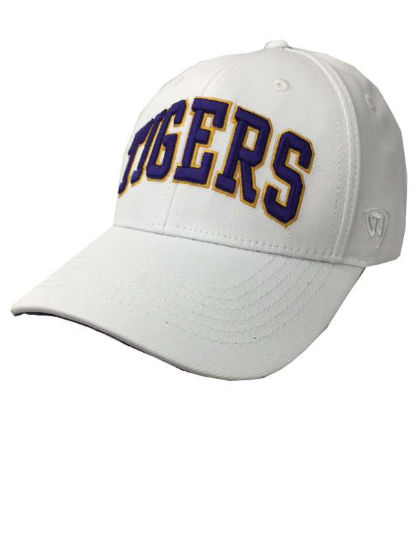 5d2d456a873 LSU Tigers Top of the World Snapback Hat - White - PURPLE AND GOLD SPORTS