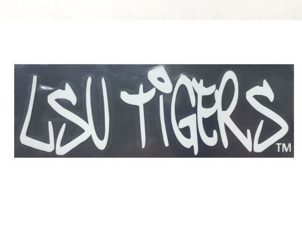 """Color Shock LSU Tigers 2"""" x 6.5"""" Decal - White"""