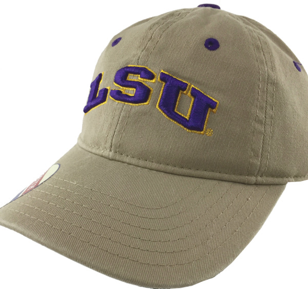 a58f777561c LSU Tigers The Game Youth Snapback Relaxed Arch Hat - Khaki - PURPLE AND  GOLD SPORTS