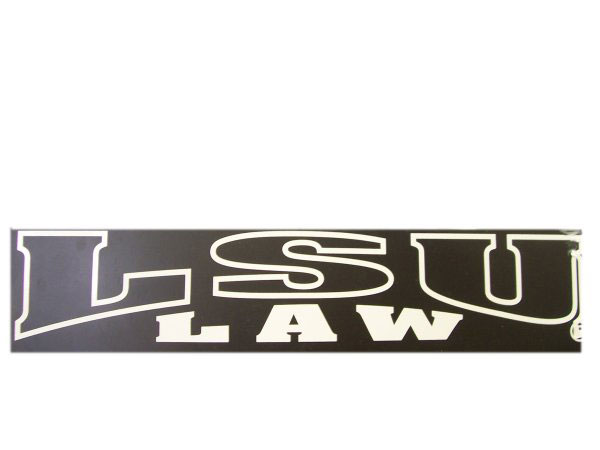 LSU Law School White Outline Decal