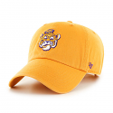 LSU 47 Brand Adjustable Clean Up College Vault Beanie Tiger Hat - Gold