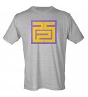 Purple & Gold Maze Graphic 225 Area Code Heather Grey Poly Blend Unisex T-Shirt