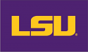 LSU Tigers 4' x 6' Purple Official Appliqued Flag with Geaux Font