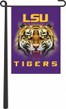 LSU Tigers Face Garden Flag - Purple