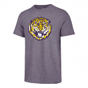 47 Brand LSU Heather Purple College Vault Tiger Tri-Blend Tee