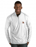 Antigua LSU Men's White & Silver Tempo Half Zip Performance Pullover
