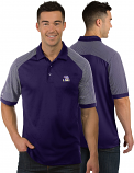 Antigua LSU Men's Purple Engage Polyester Polo