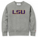 League LSU Unisex Grey Appliqued Crew Neck Sweat Shirt