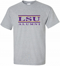 LSU Adult Grey Classic Alumni Bar Design Cotton Tee