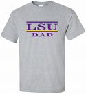 LSU Adult Grey Classic Dad Bar Design Cotton Tee