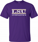 LSU Adult Purple Classic Gymnastics Bar Design Cotton Tee