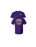 LSU 2019 Twelve Time Southeastern Conference Football Champions Tee - Purple
