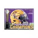 LSU Tigers National Champions Die Cut FRIDGE MAGNET