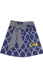 LSU Tigers Child's Quatrefoil Skirt - Purple and White