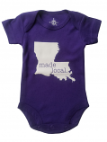 LSU Newborn Made Local Onesie - Purple