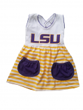 LSU Girl's Infant and Toddler Sleeveless Striped Dress - Gold & White