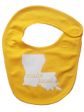 LSU Made Local Baby Bib - Gold