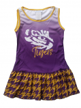 LSU Girl's Degraded Purple Sleeveless Dress - Purple & Gold